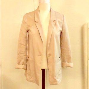 H&M Cream Boyfriend Blazer Sports Jacket